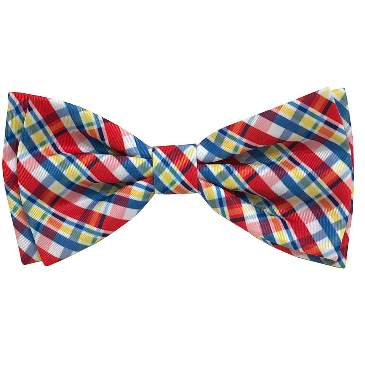 Huxley & Kent Dog and Cat Bow Tie Collar Attachment - Preppy Plaid