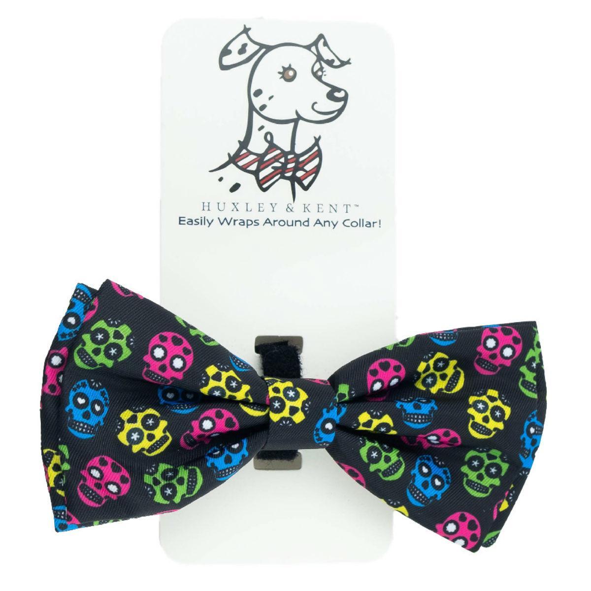 Huxley & Kent Dog Bow Tie Collar Attachment - Sugar Skulls