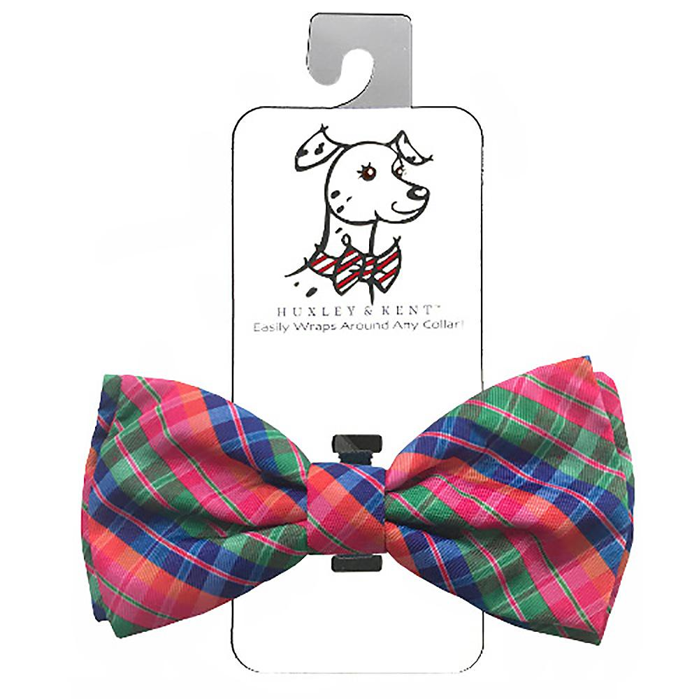 Huxley & Kent Dog Bow Tie Collar Attachment - Sweet Tart Madras