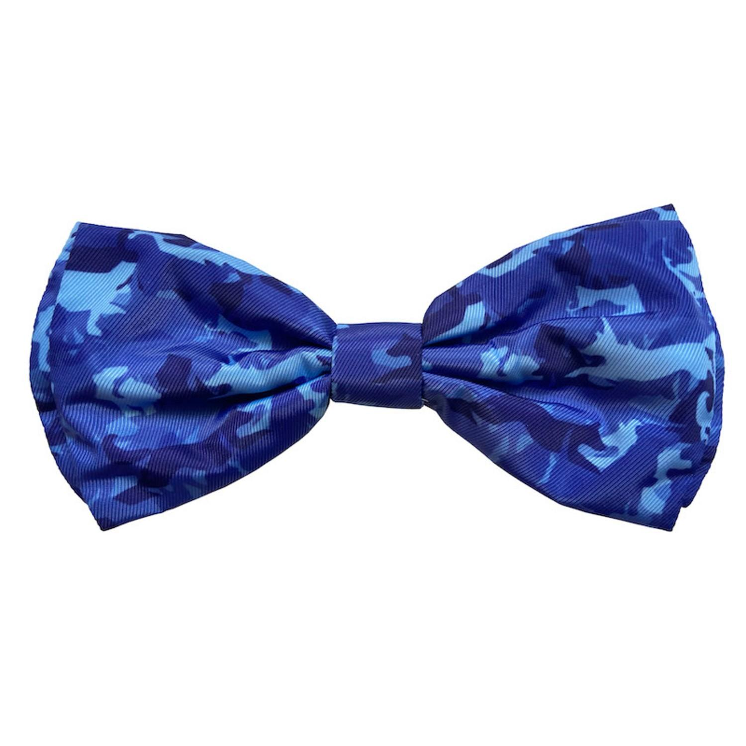 Huxley & Kent Dog and Cat Bow Tie Collar Attachment - Camo Dogs Blue
