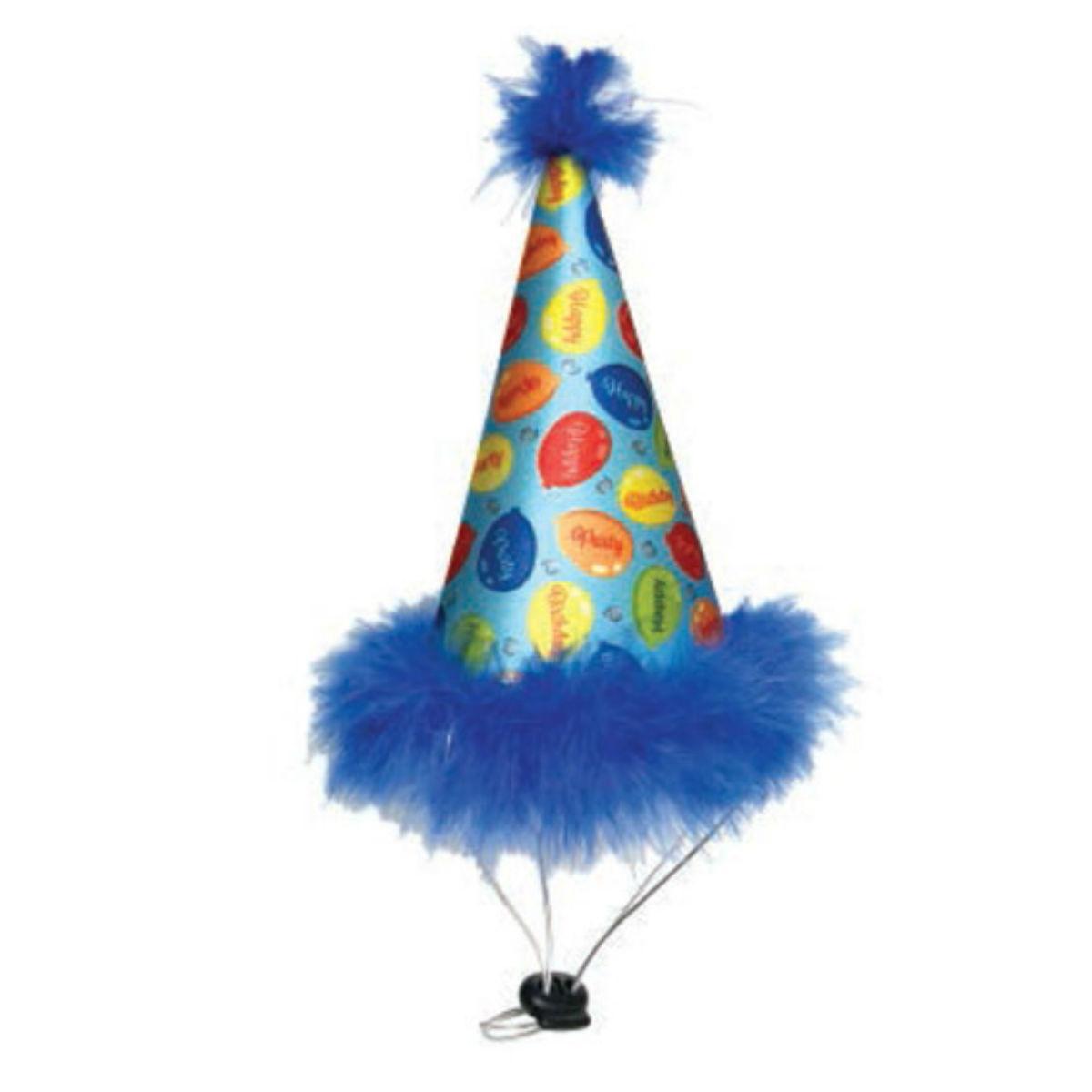 Huxley & Kent Party Time Dog Hat - Blue