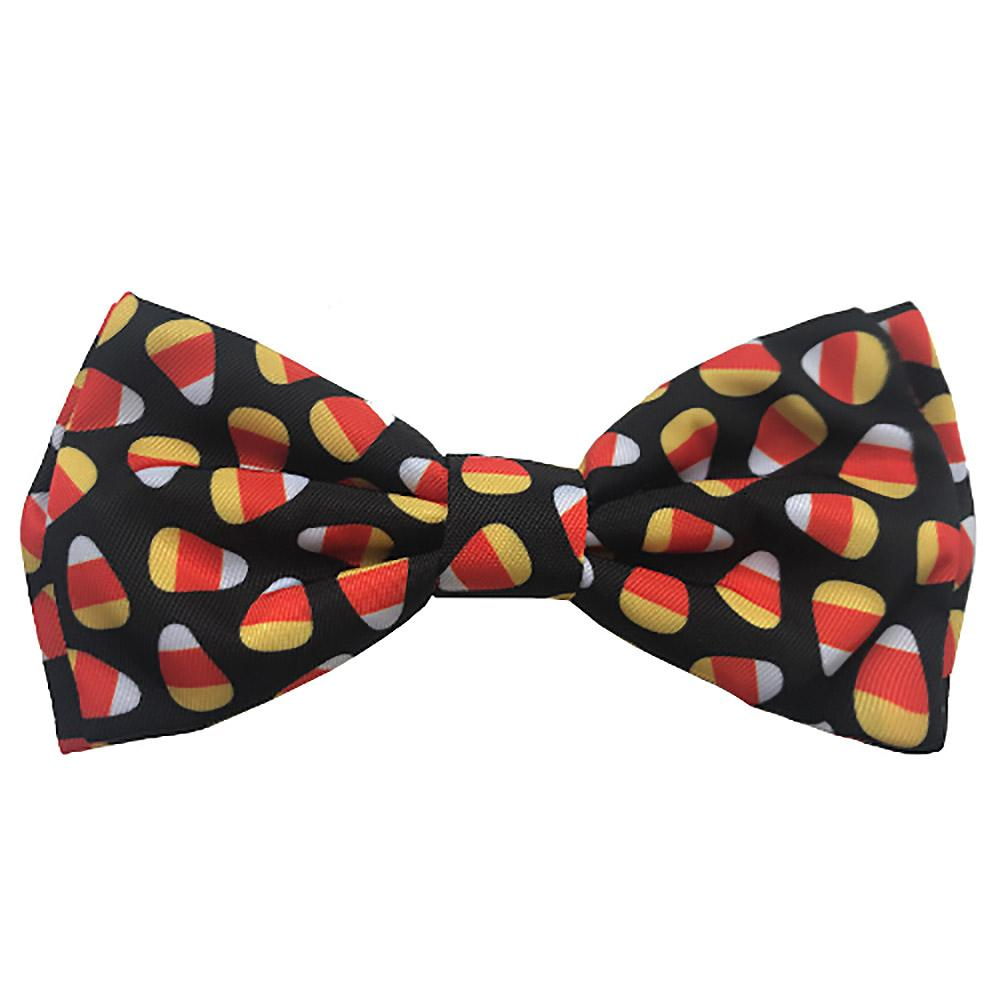 Huxley & Kent Halloween Dog and Cat Bow Tie Collar Attachment - Candy Corn