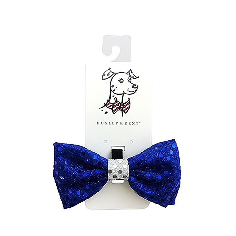 Huxley & Kent Hanukkah Dog and Cat Bow Tie - Blue Disco Dot