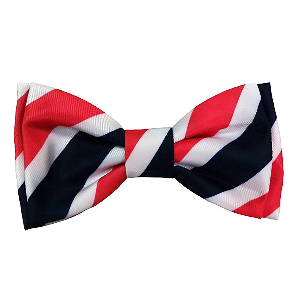 Huxley & Kent Theodore Dog Bow Tie Collar Attachment - Red, White & Blue Stripe