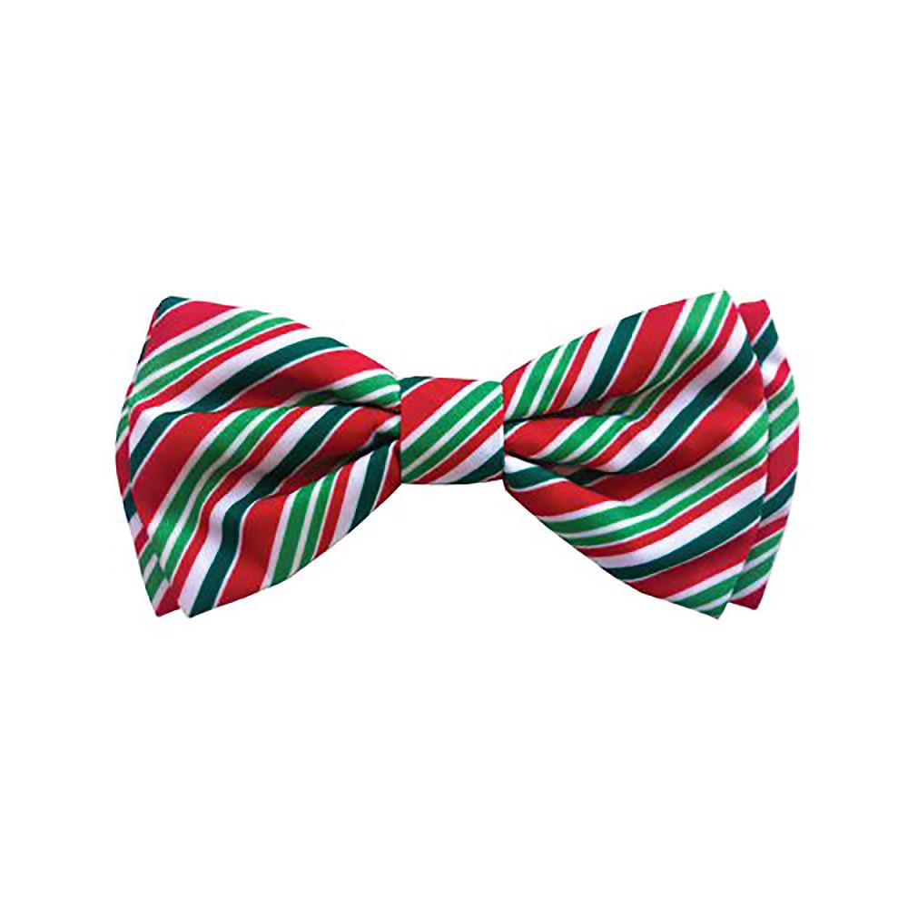 Huxley & Kent Holiday Dog and Cat Bow Tie Collar Attachment - Candy Cane