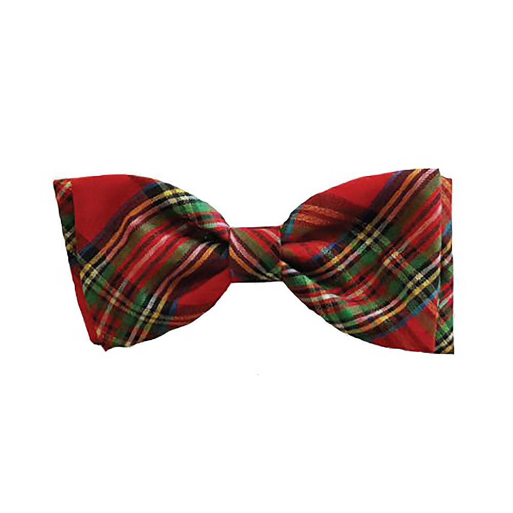 Huxley & Kent Holiday Dog and Cat Bow Tie - Red Plaid