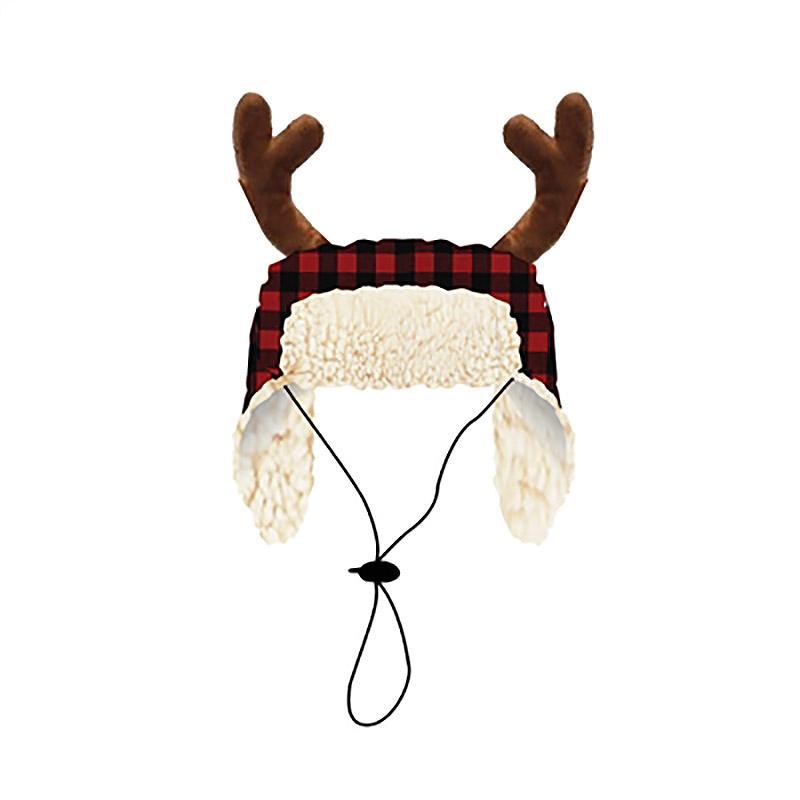 Huxley & Kent Holiday Dog Hat - Buffalo Check