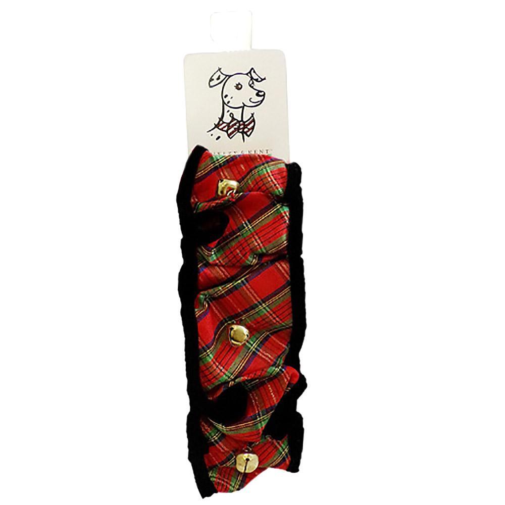 Huxley & Kent Holiday Dog Scrunchy - Red Plaid
