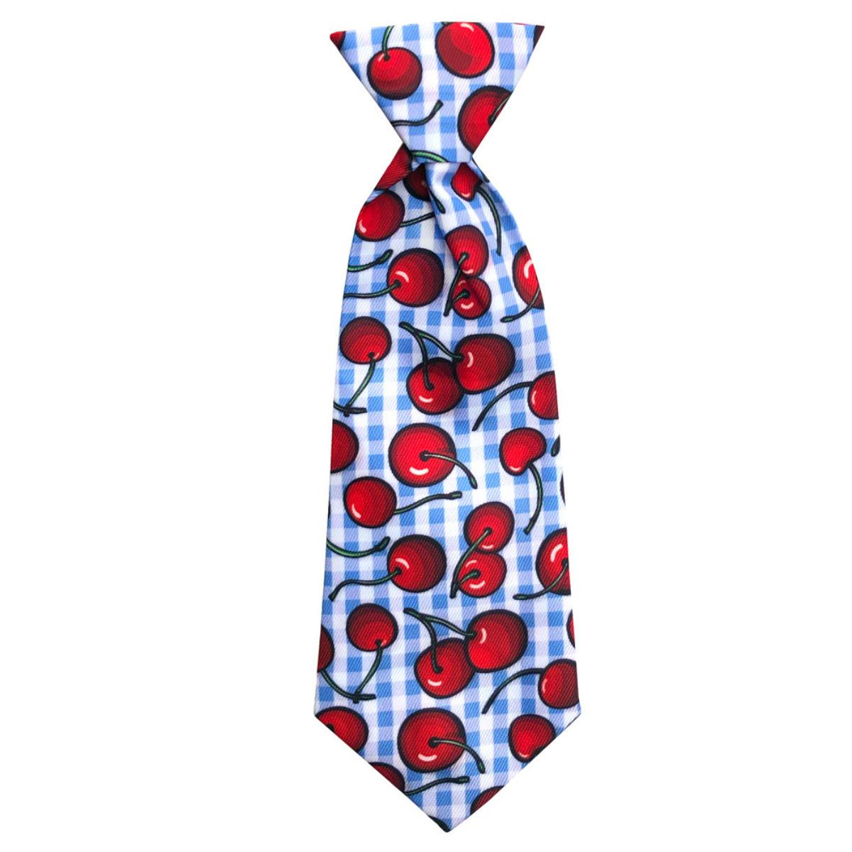 Huxley & Kent Long Tie Collar Attachment Dog Necktie - Americana Pie
