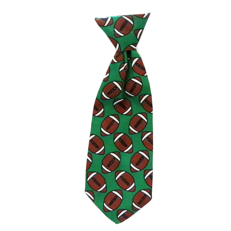 Huxley & Kent Long Tie Collar Attachment Dog Necktie - Football