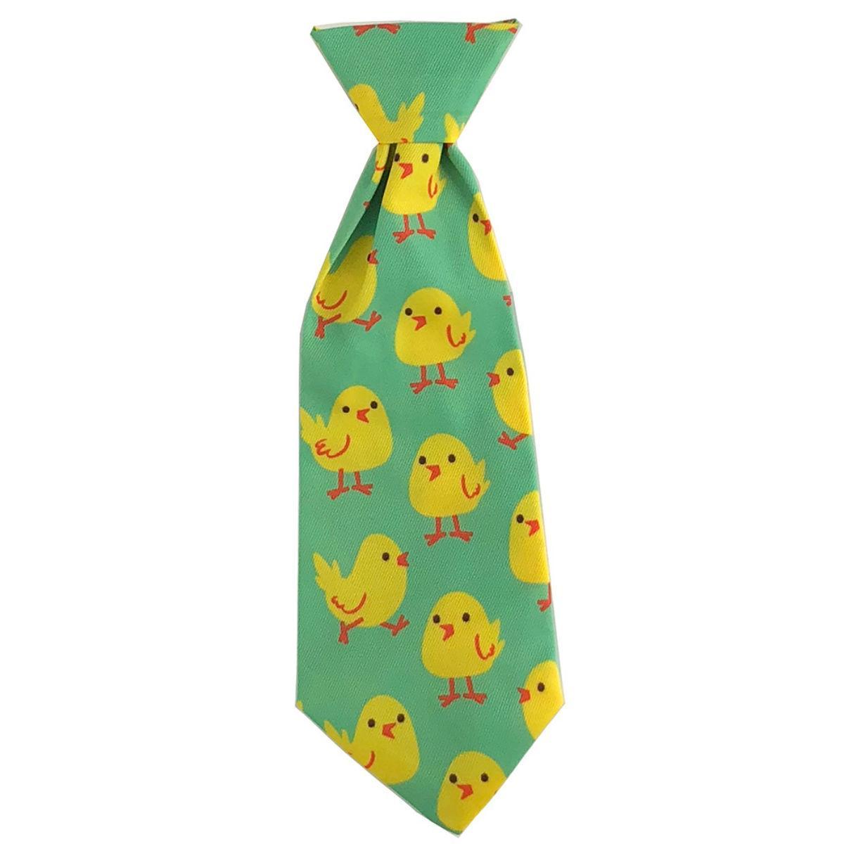 Huxley & Kent Long Tie Collar Attachment Dog Necktie - Chicks
