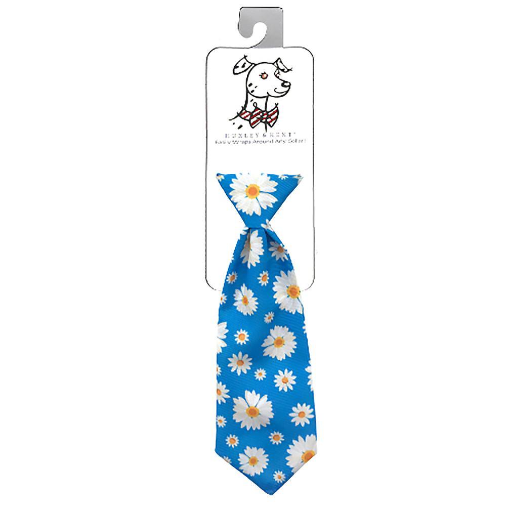 Huxley & Kent Long Tie Collar Attachment Dog Necktie - Flower Child