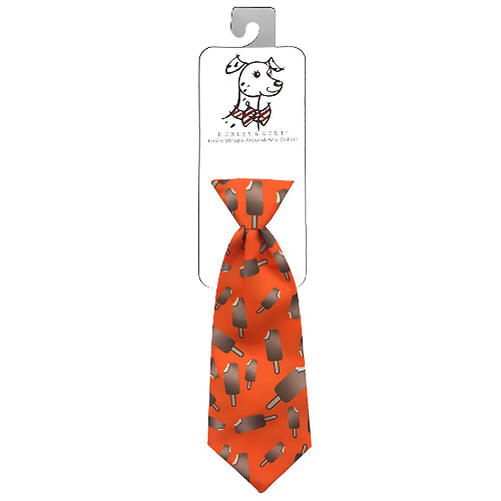 Huxley & Kent Long Tie Collar Attachment Dog Necktie - Ice Cream Bar