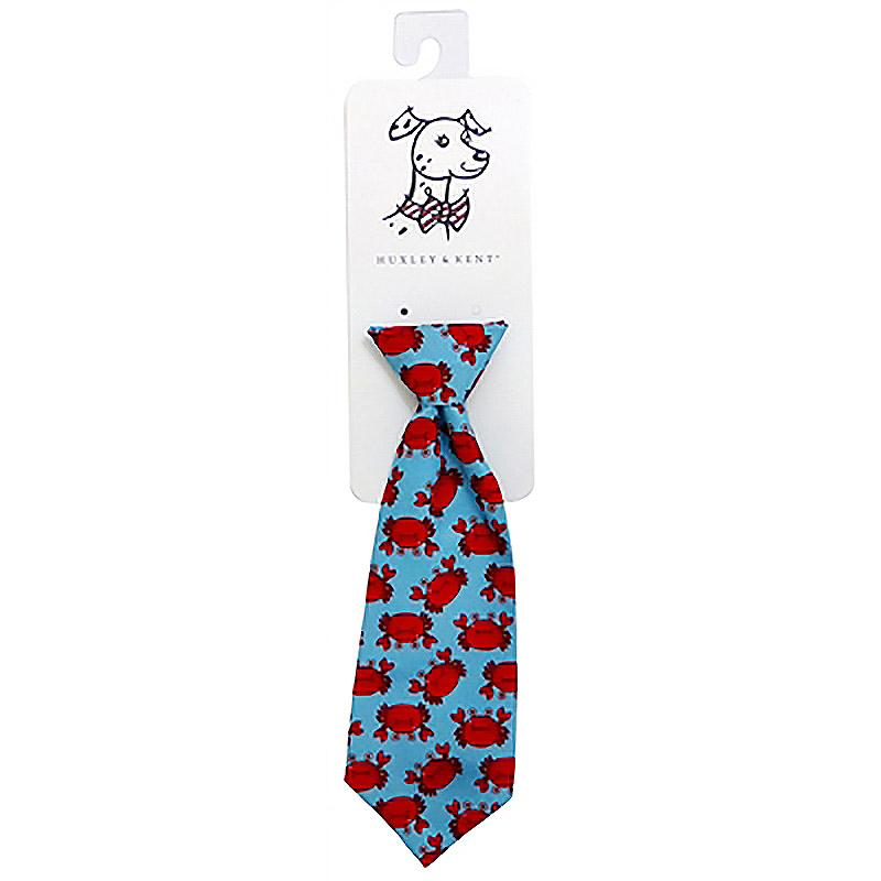 Huxley & Kent Long Tie Collar Attachment Dog Necktie - Mr Krabs