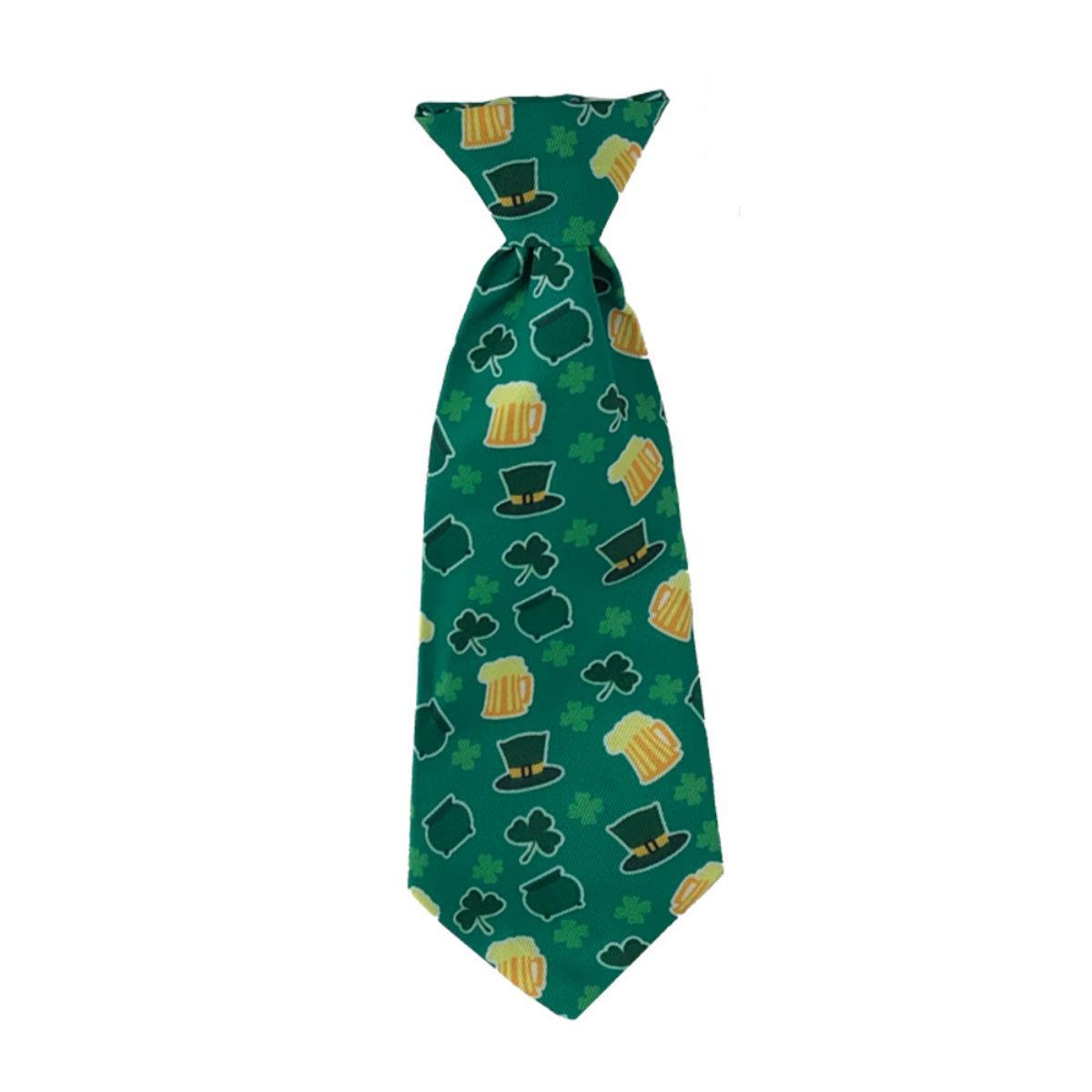 Huxley & Kent Long Tie Collar Attachment Dog Necktie - Pot O Gold