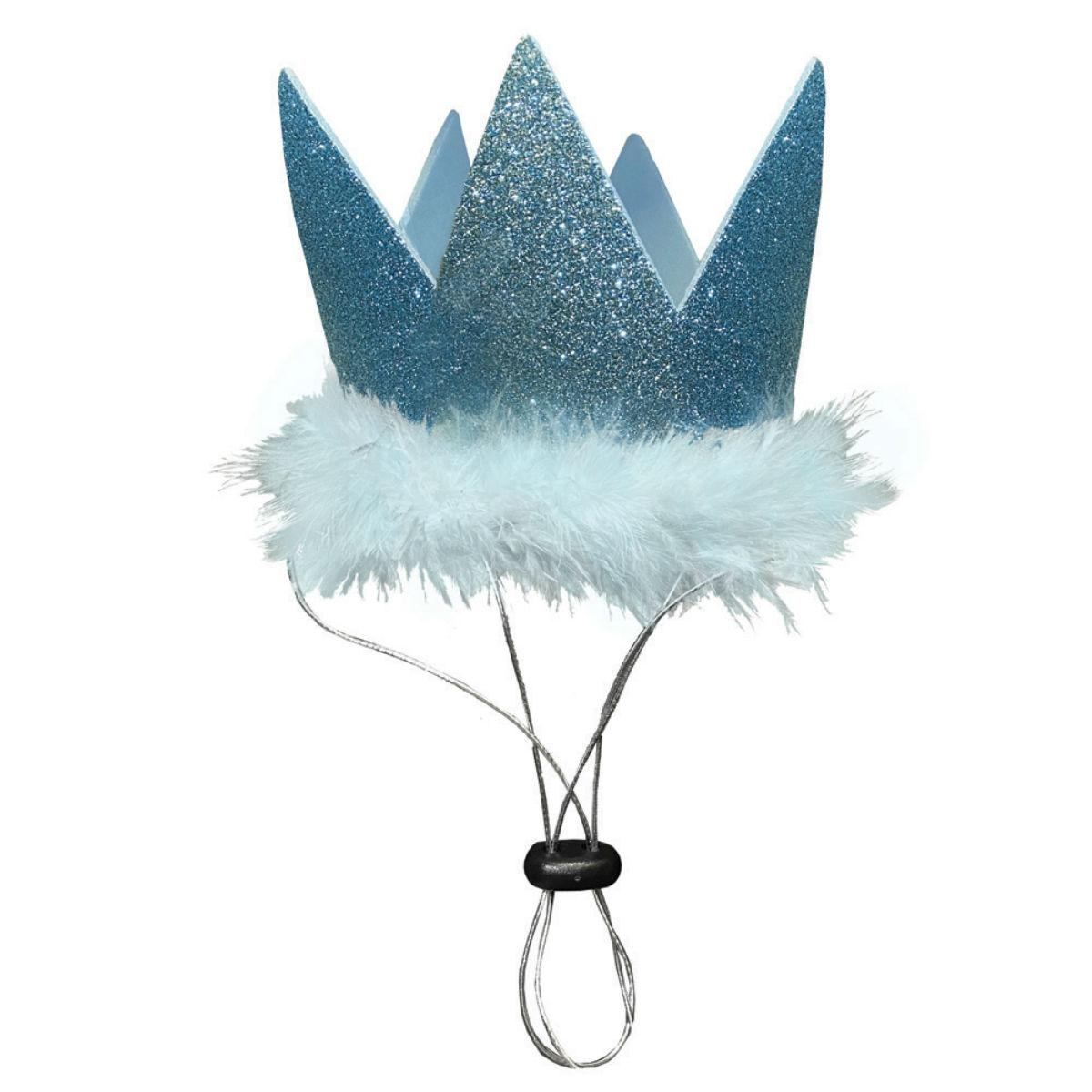 Huxley & Kent Party Crown Dog and Cat Hat - Blue