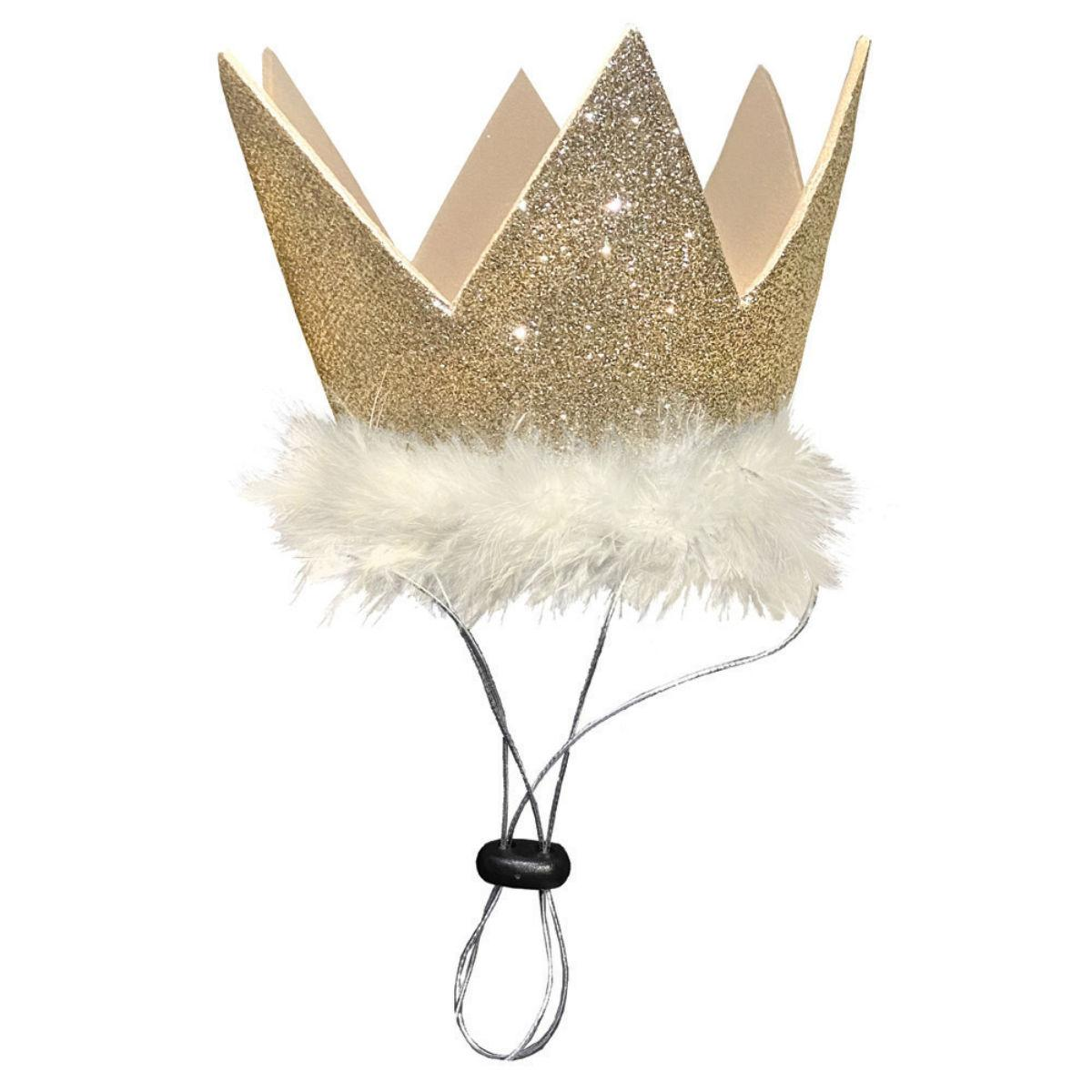 Huxley & Kent Party Crown Dog and Cat Hat - Gold