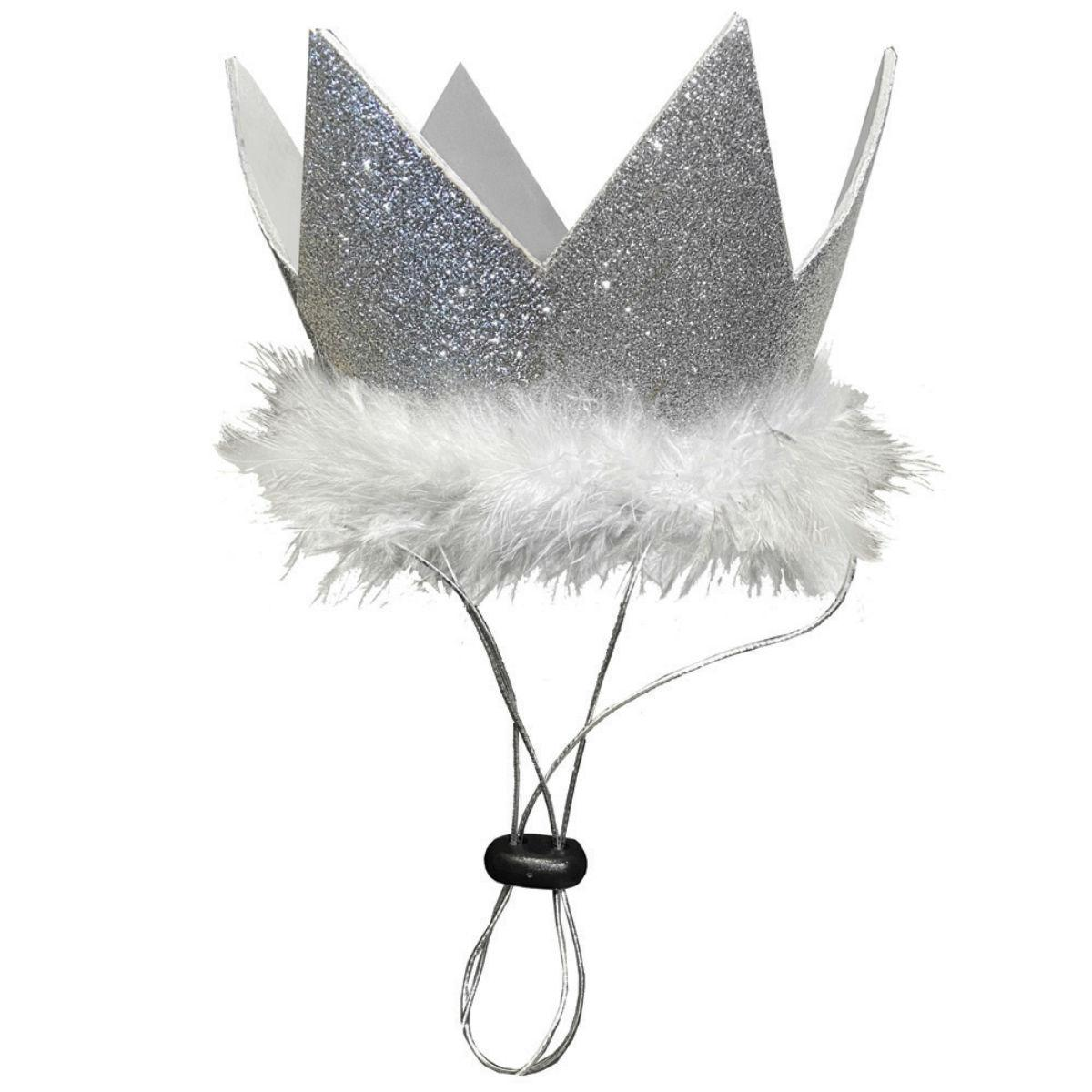 Huxley & Kent Party Crown Dog and Cat Hat - Silver