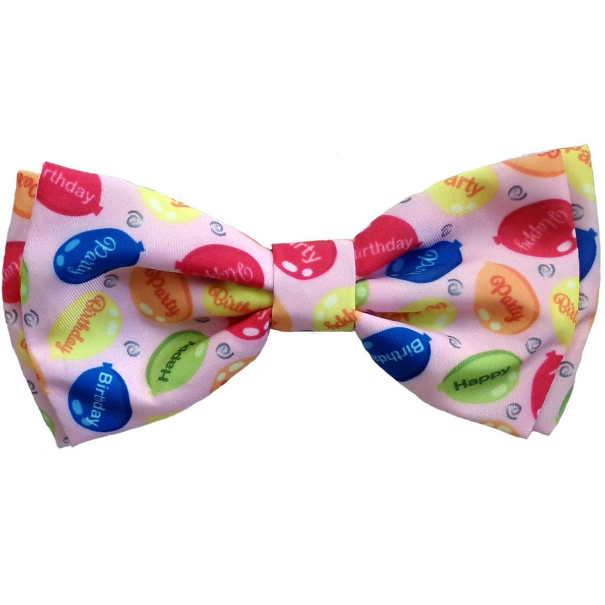 Huxley & Kent Party Time Dog and Cat Bow Tie Collar Attachment - Pink