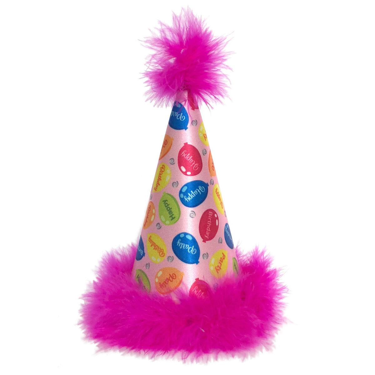 Huxley & Kent Party Time Dog Hat - Pink