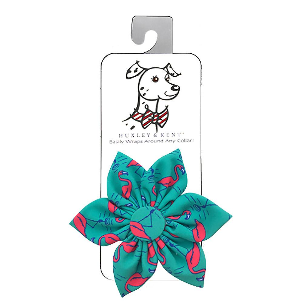 Huxley & Kent Pinwheel Dog and Cat Collar Attachment - Flamingo