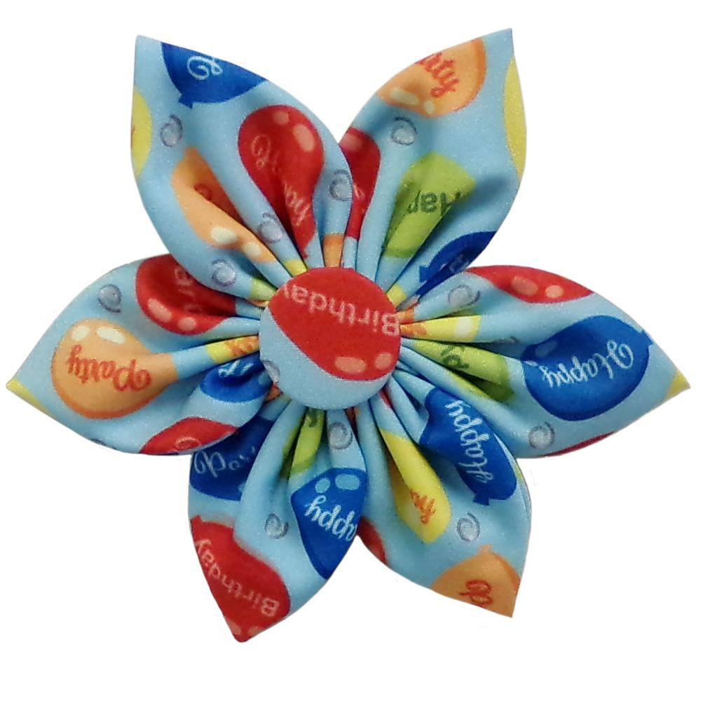 Huxley & Kent Party Time Pinwheel Dog and Cat Collar Attachment - Blue