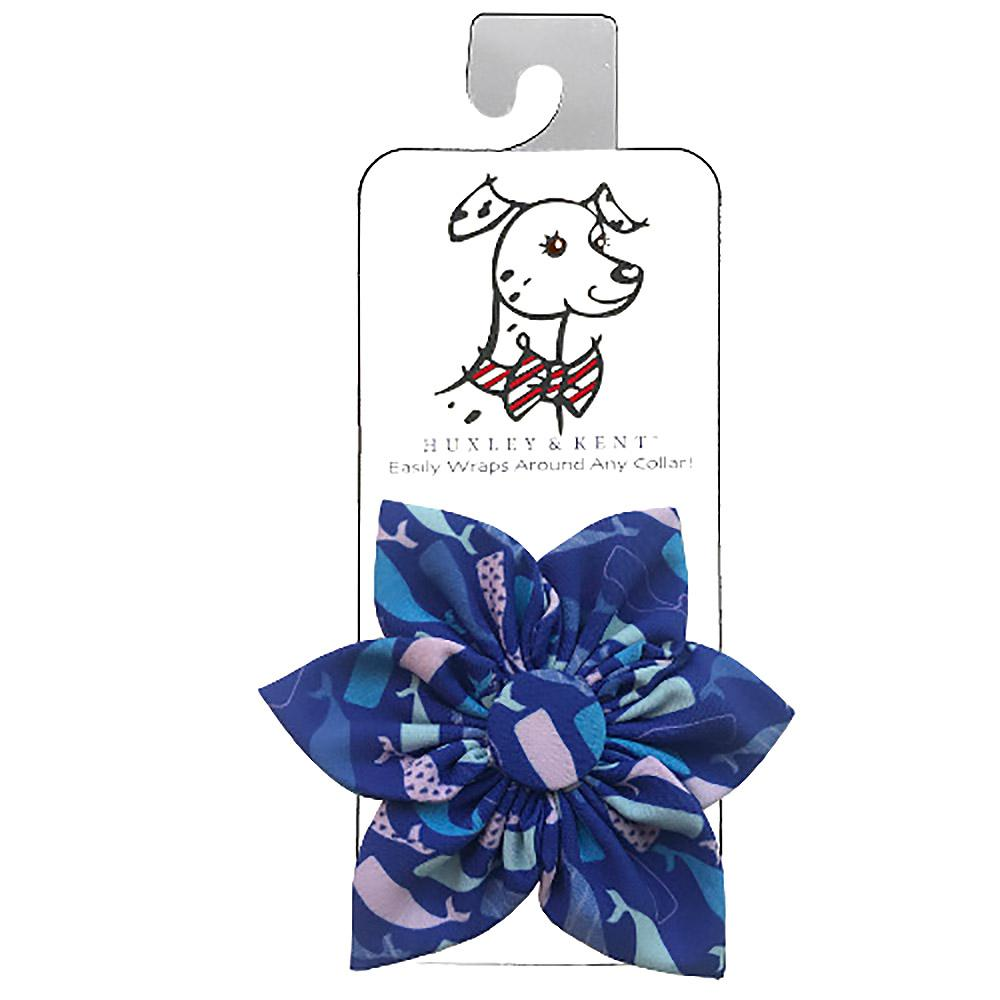 Huxley & Kent Pinwheel Dog and Cat Collar Attachment - Whale Watch