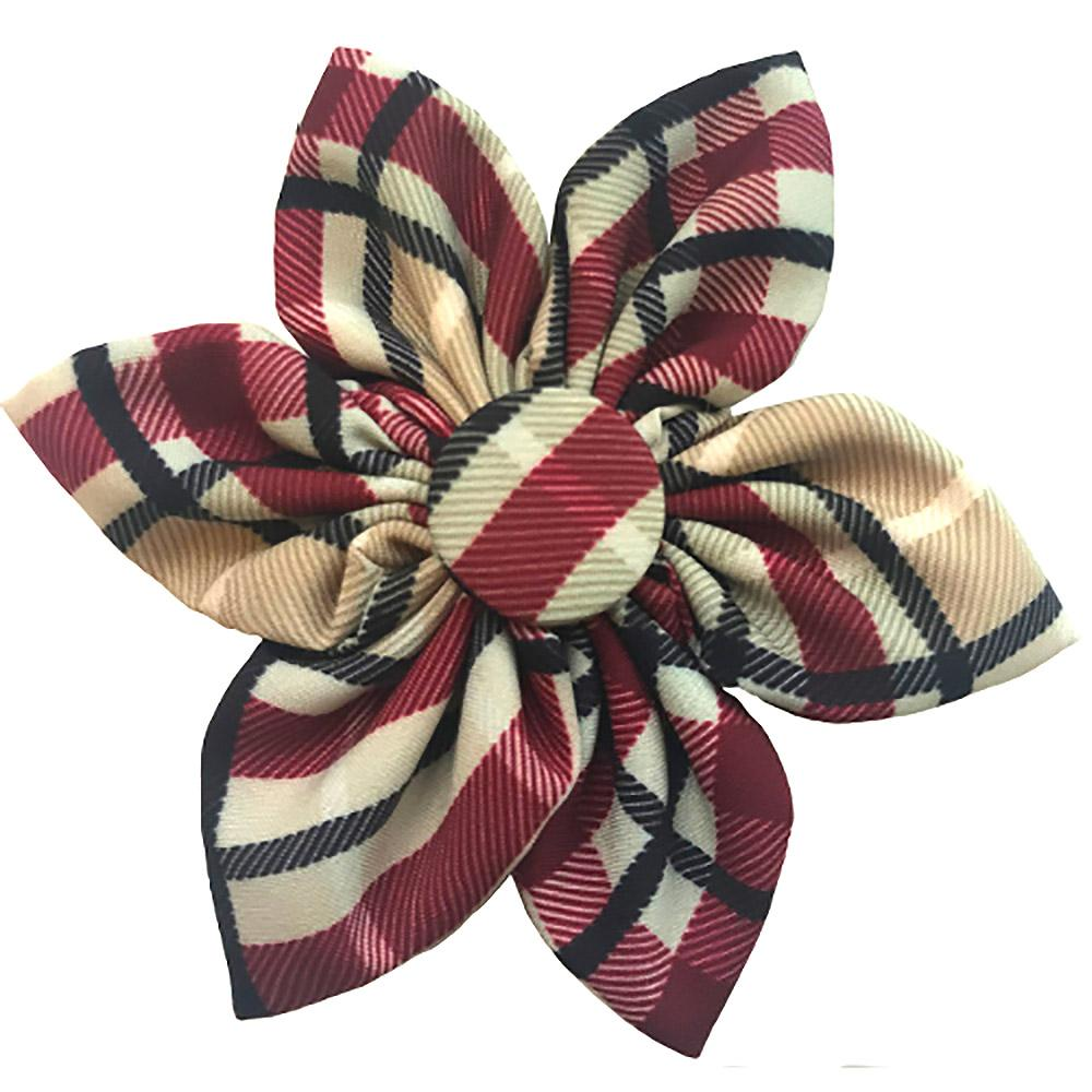 Huxley & Kent Pinwheel Dog and Cat Collar Attachment - Tan Plaid