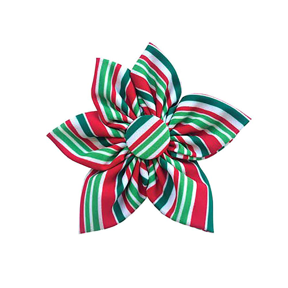Huxley & Kent Pinwheel Holiday Dog and Cat Collar Attachment - Candy Cane