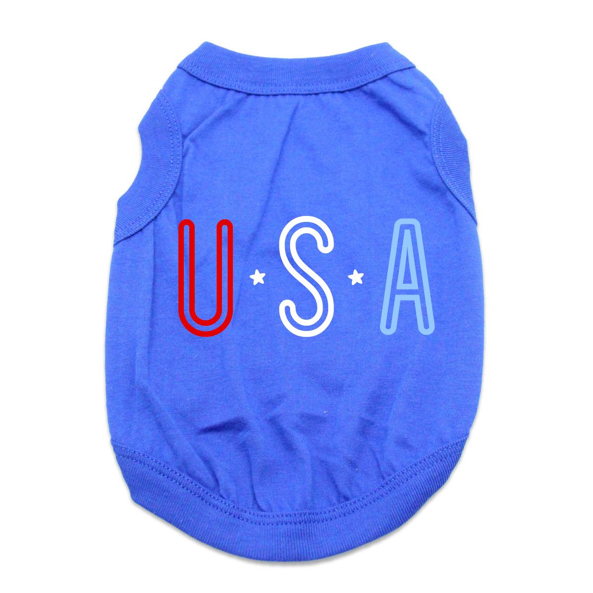 USA Dog Shirt - Blue
