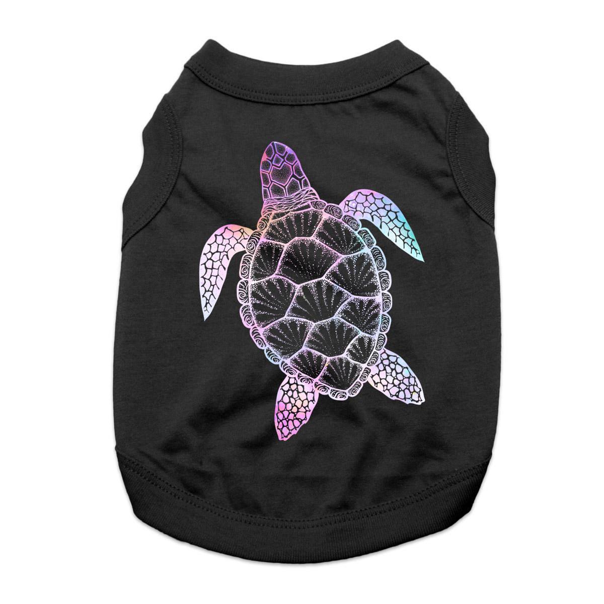 Galaxy Sea Turtle Dog Shirt - Black