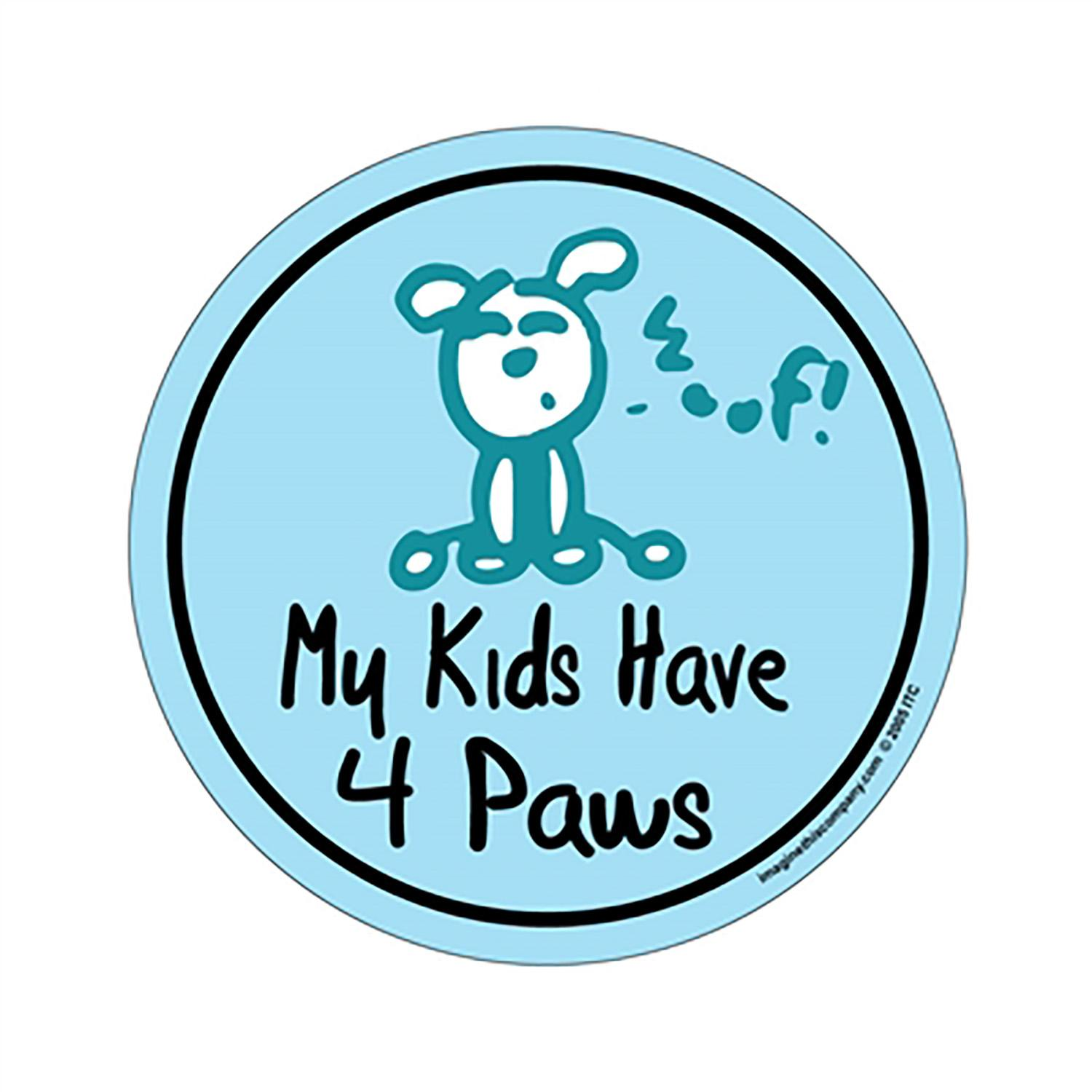 My Kids Have 4 Paws Circle Magnet