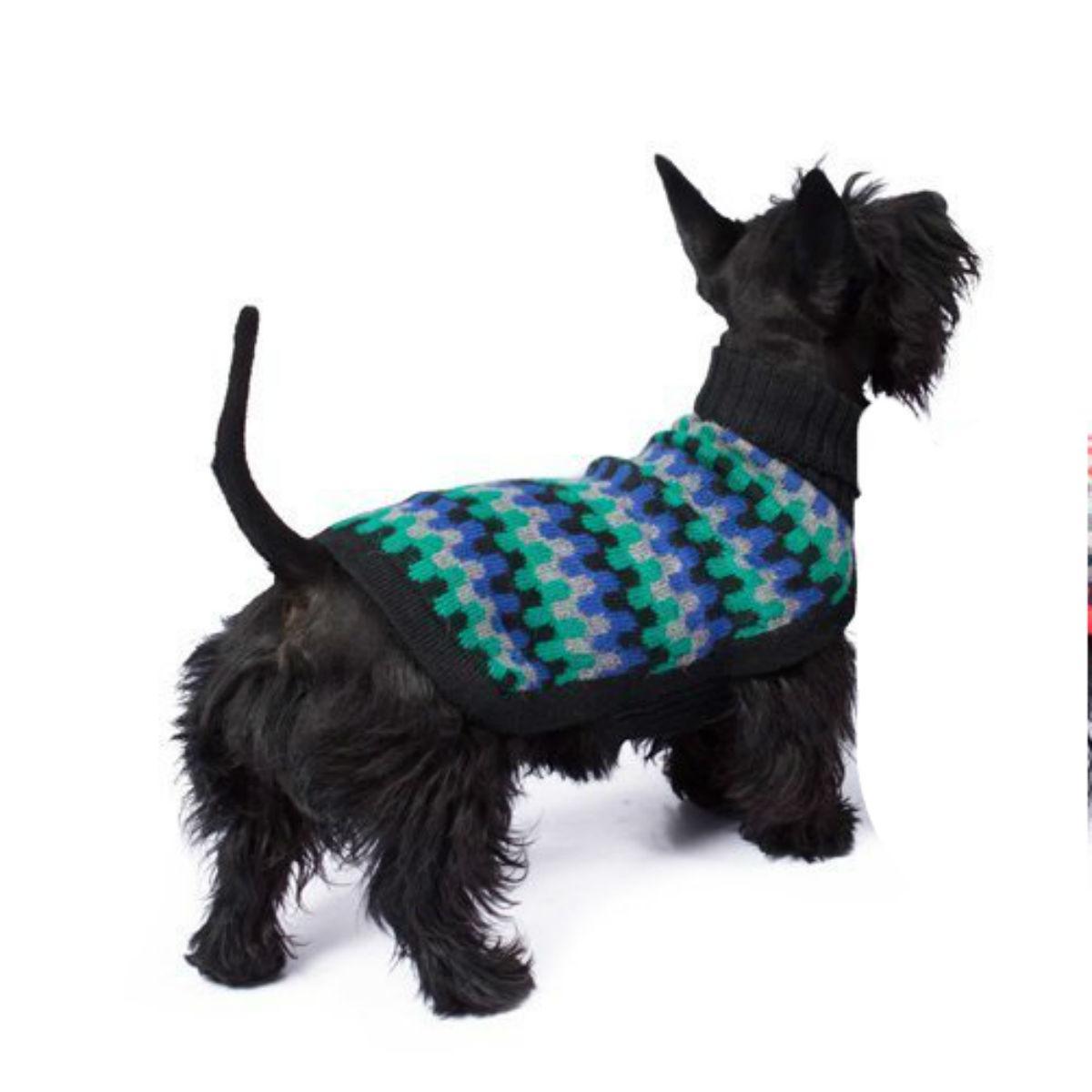 Night Waves Alpaca Dog Sweater by Alqo Wasi