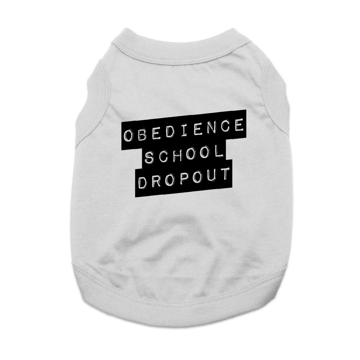 Obedience School Dropout Dog Shirt - Gray