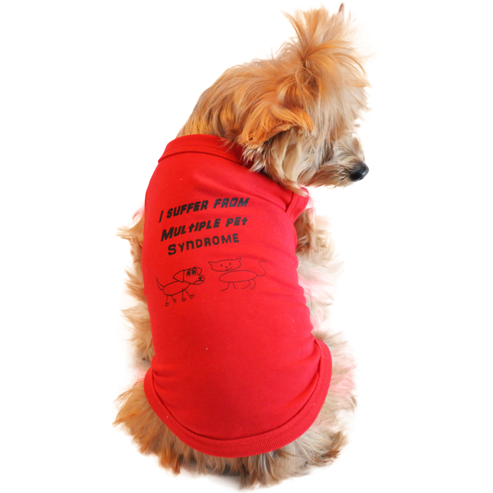 I Suffer From Multiple Pet Syndrome Designer Dog Tank by Doggie Design