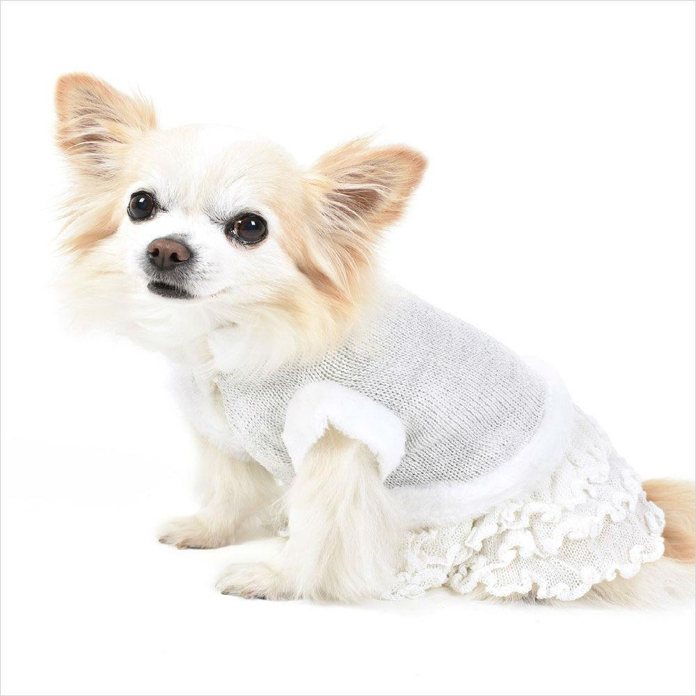 Ice Princess Dog Sweater Dress By Oscar Newman