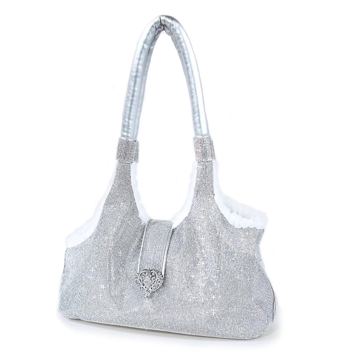 Imperial Crystal Dog Carrier by Hello Doggie - Silver