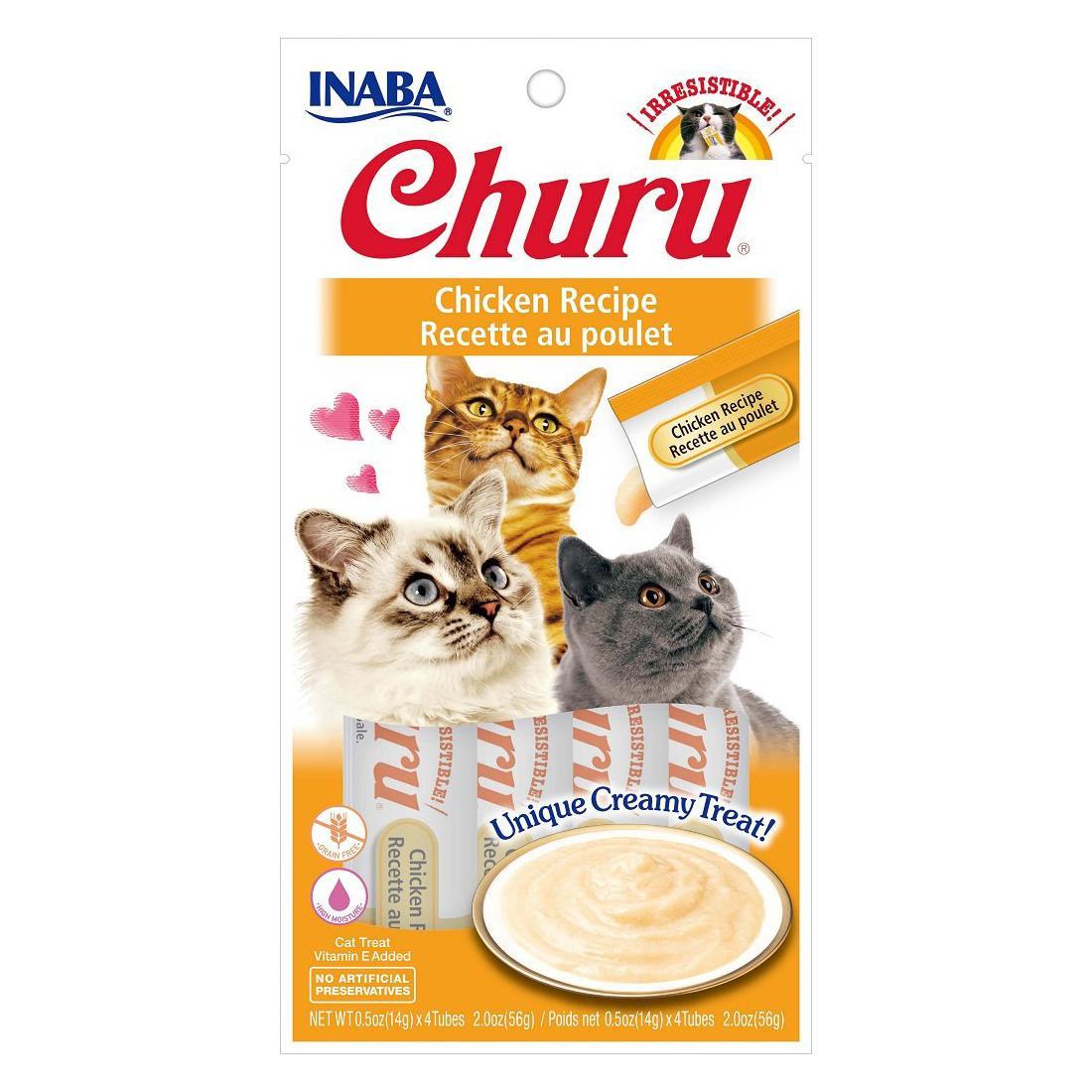 Inaba Churu Puree Grain-Free Cat Treats - Chicken