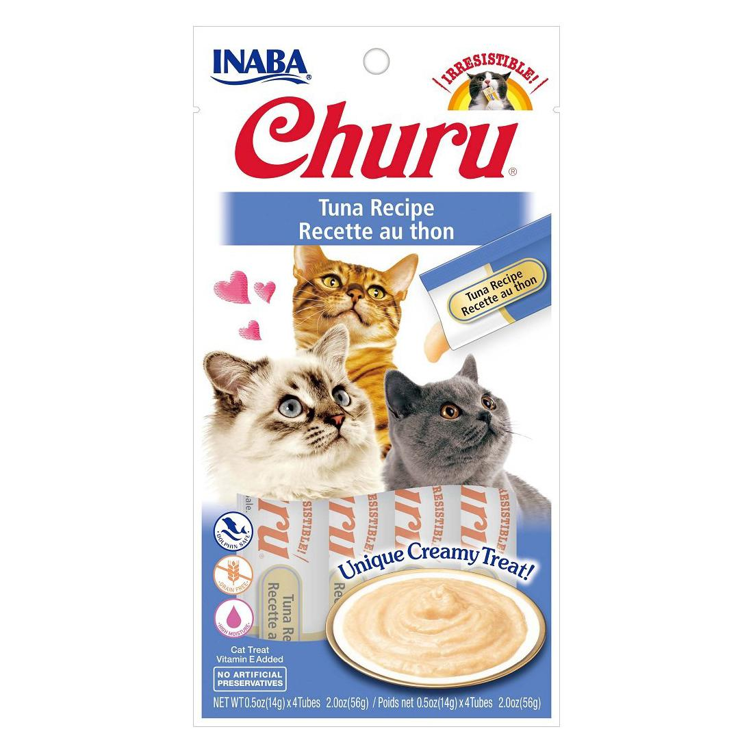 Inaba Churu Puree Grain-Free Cat Treats - Tuna
