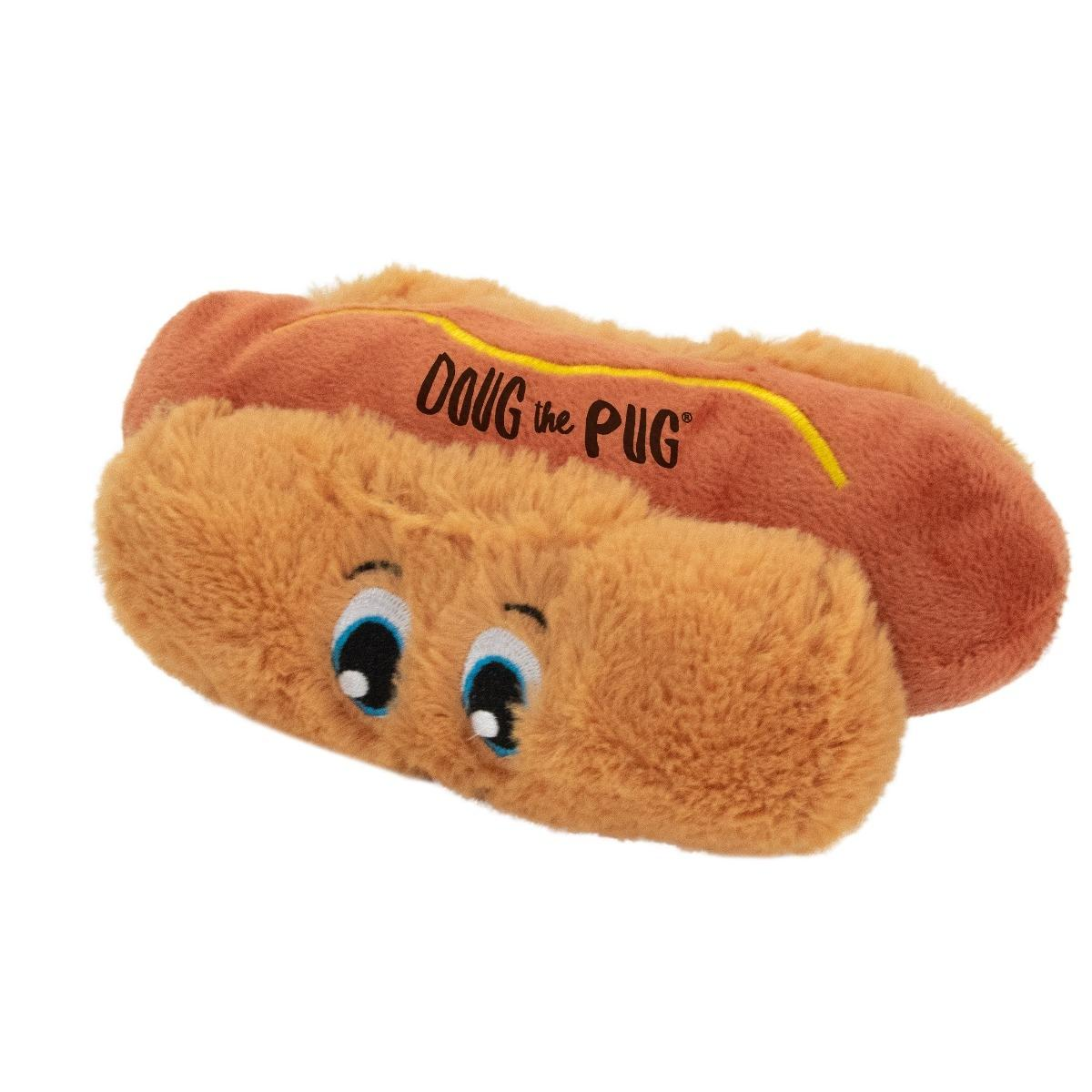 Incrediplush Doug the Pug Dog Toy - Hot Dog
