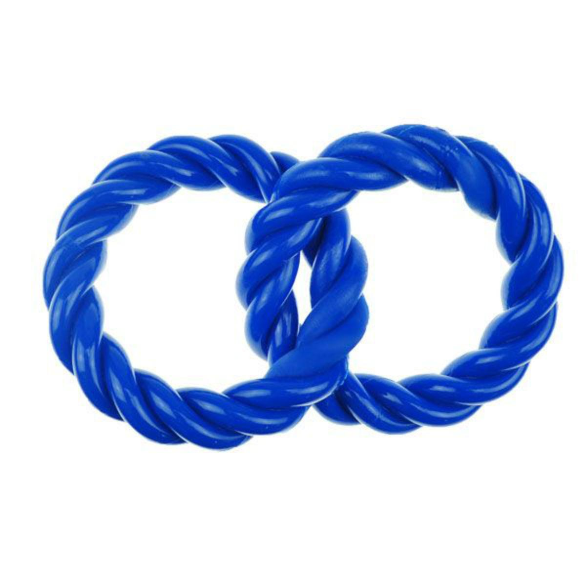 Infinity TPR 2 Rings Dog Toy - Blue