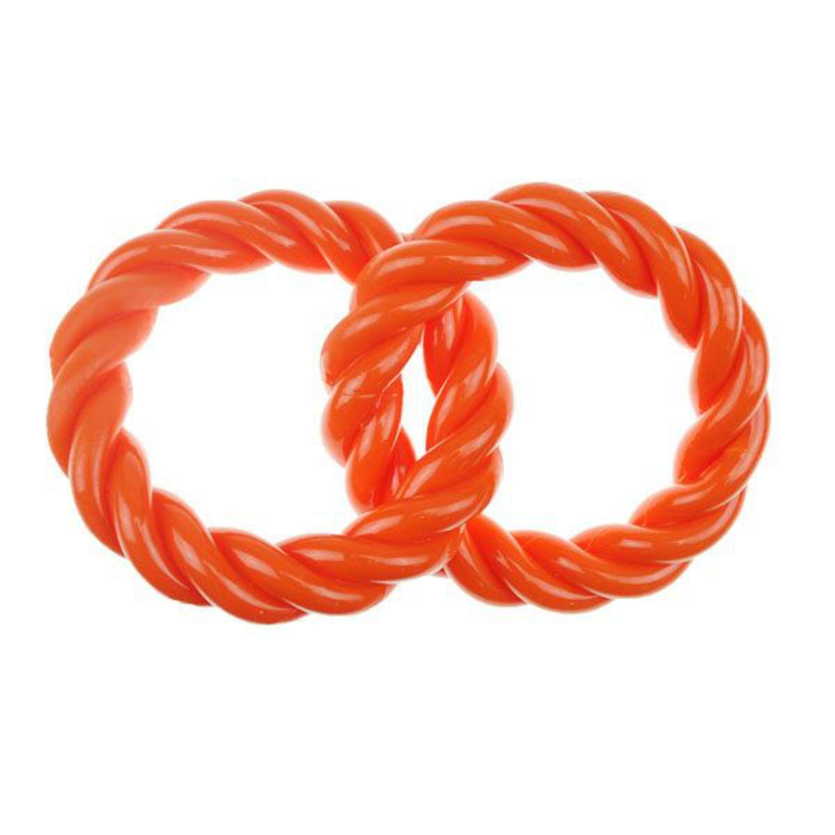 Infinity TPR 2 Rings Dog Toy - Orange