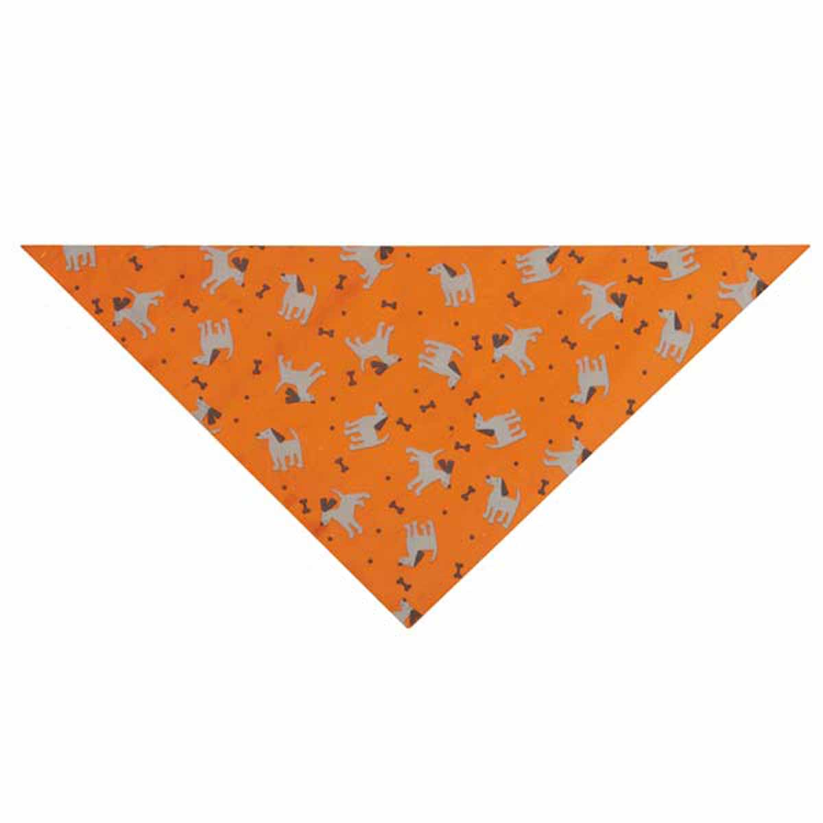 Insect Shield Dog & Bones Dog Bandana - Orange