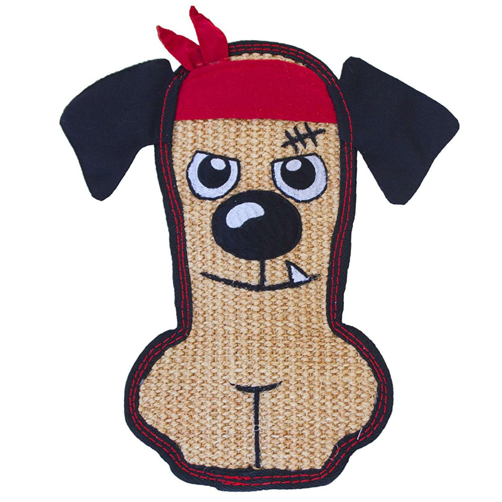 Invincibles Sisal Tough Seamz Dog toy - Bandanna Dog