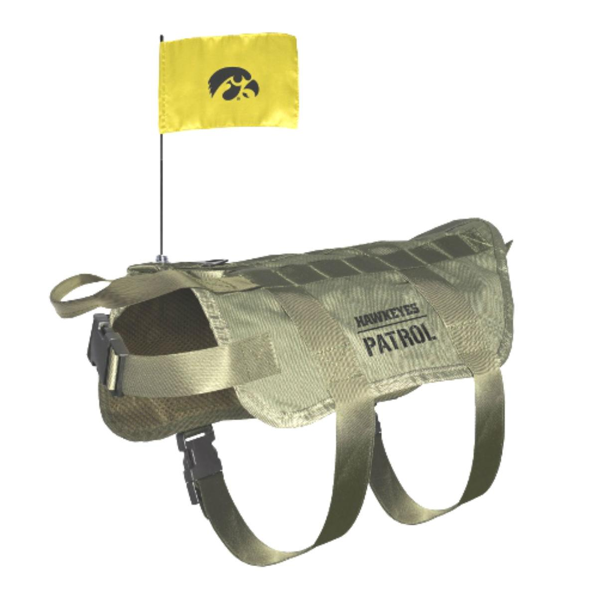 Iowa Hawkeyes Tactical Vest Dog Harness