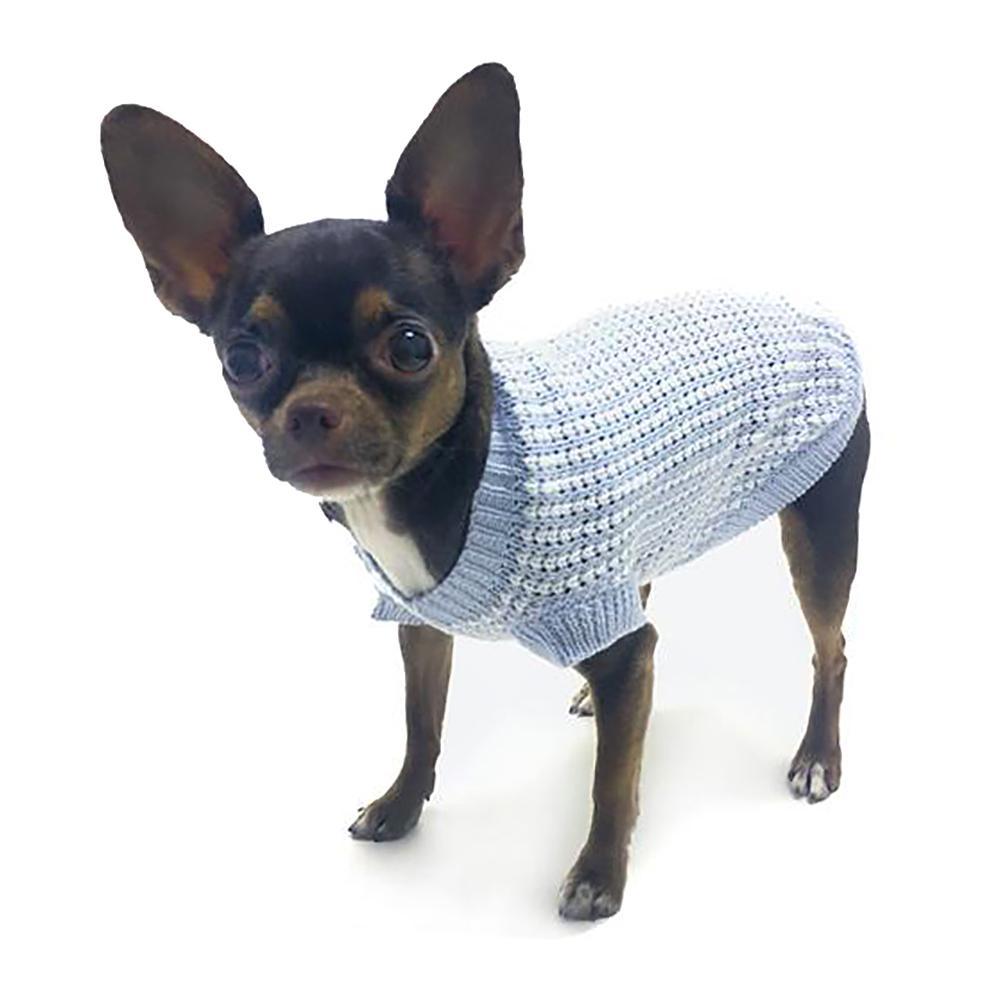It's A Boy Dog Sweater By Truly Oscar - Blue