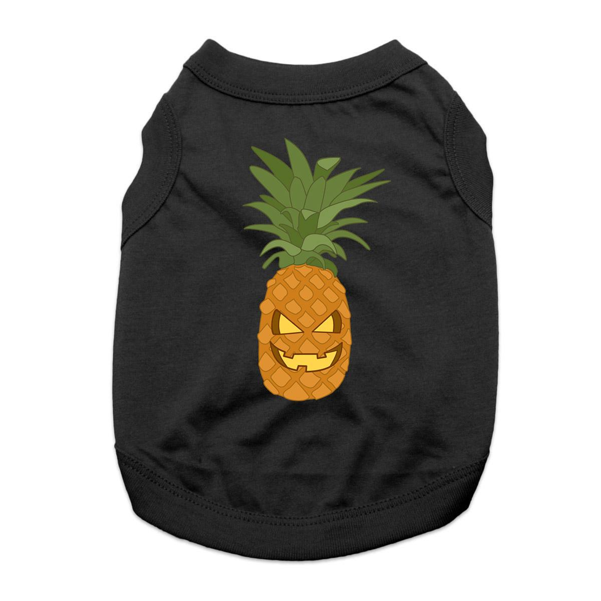 Pineapple Jack-O-Lantern Dog Shirt - Black