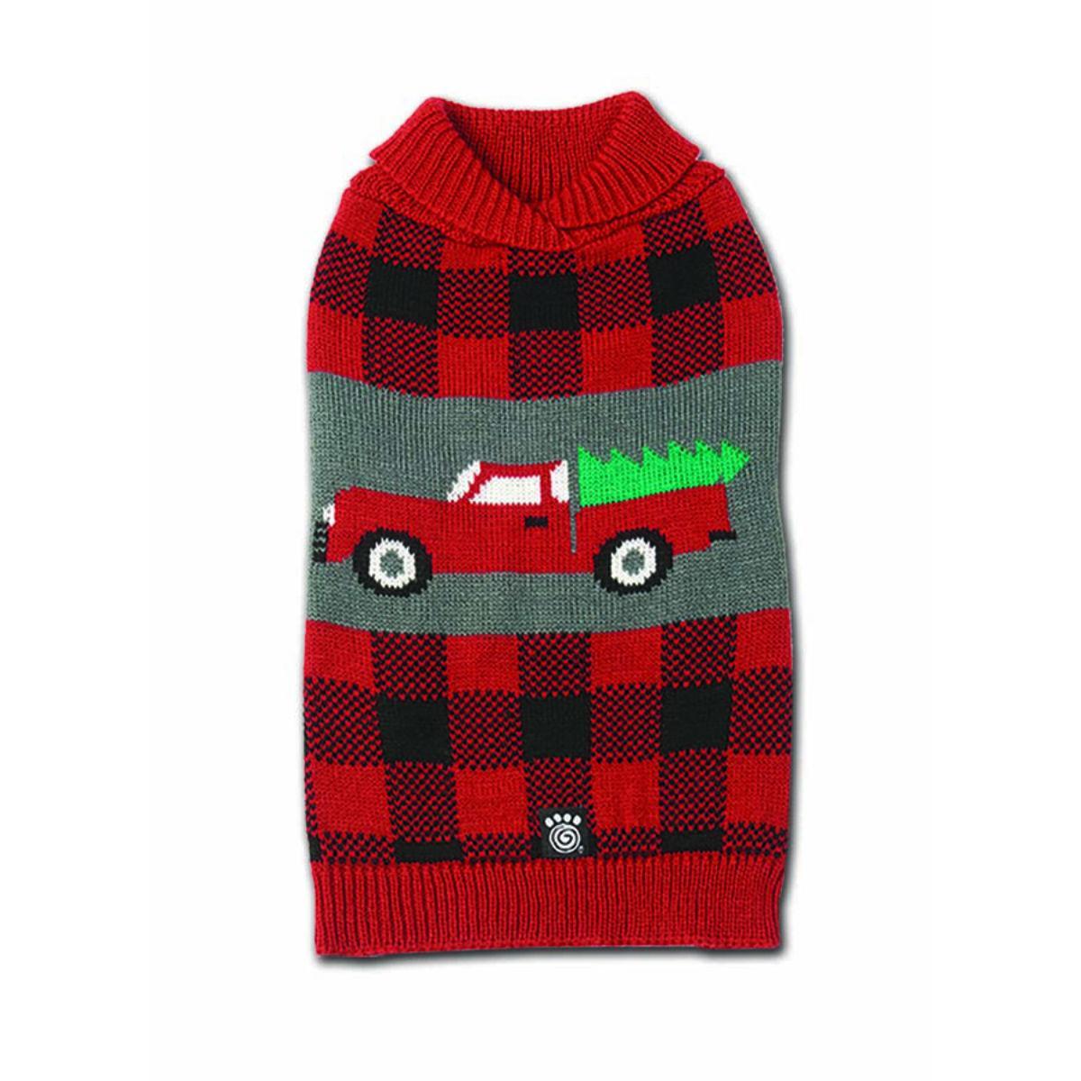 Jackson Novelty Dog Sweater - Tree & Truck