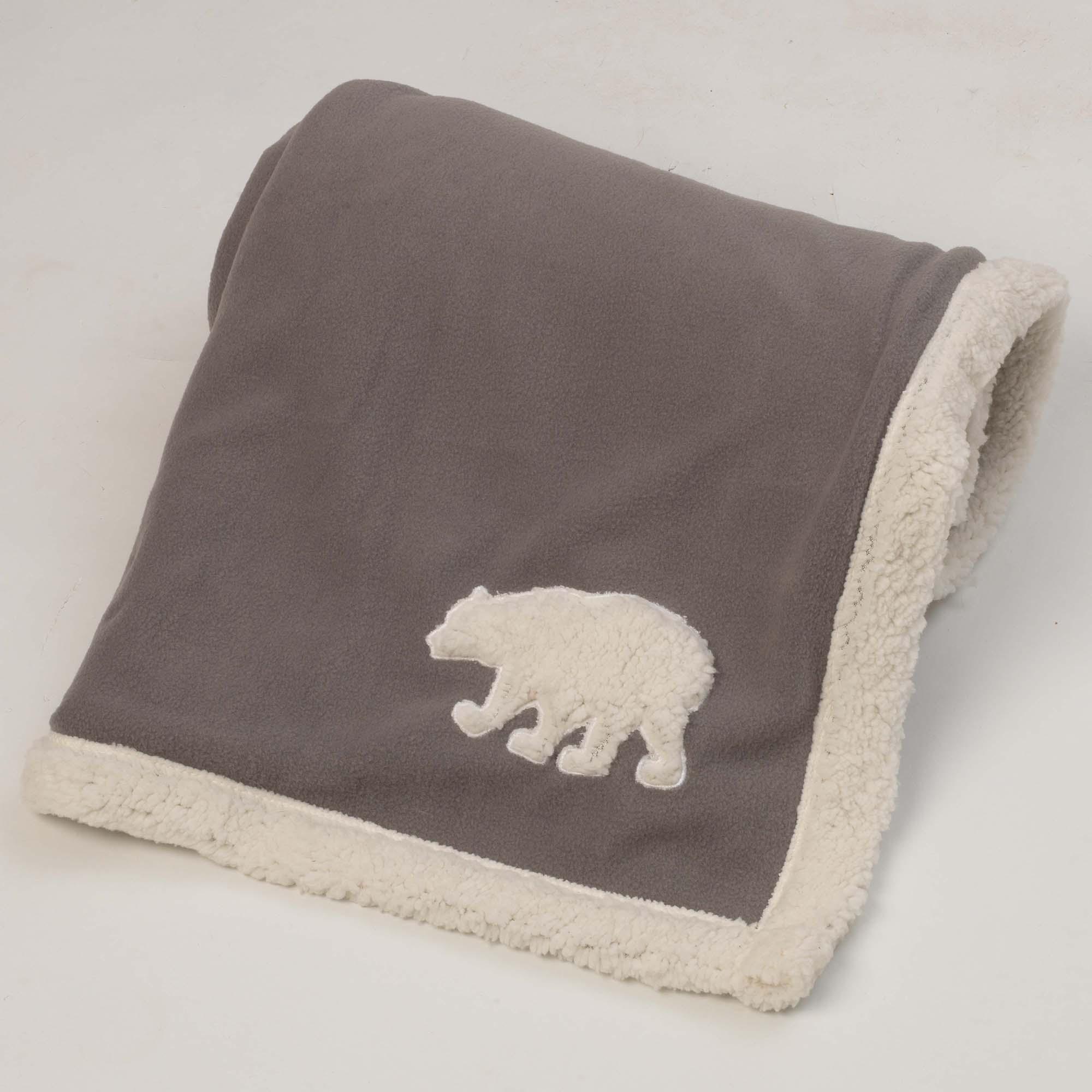 Jackson Polar Bear Fleece Dog Blanket - Gray