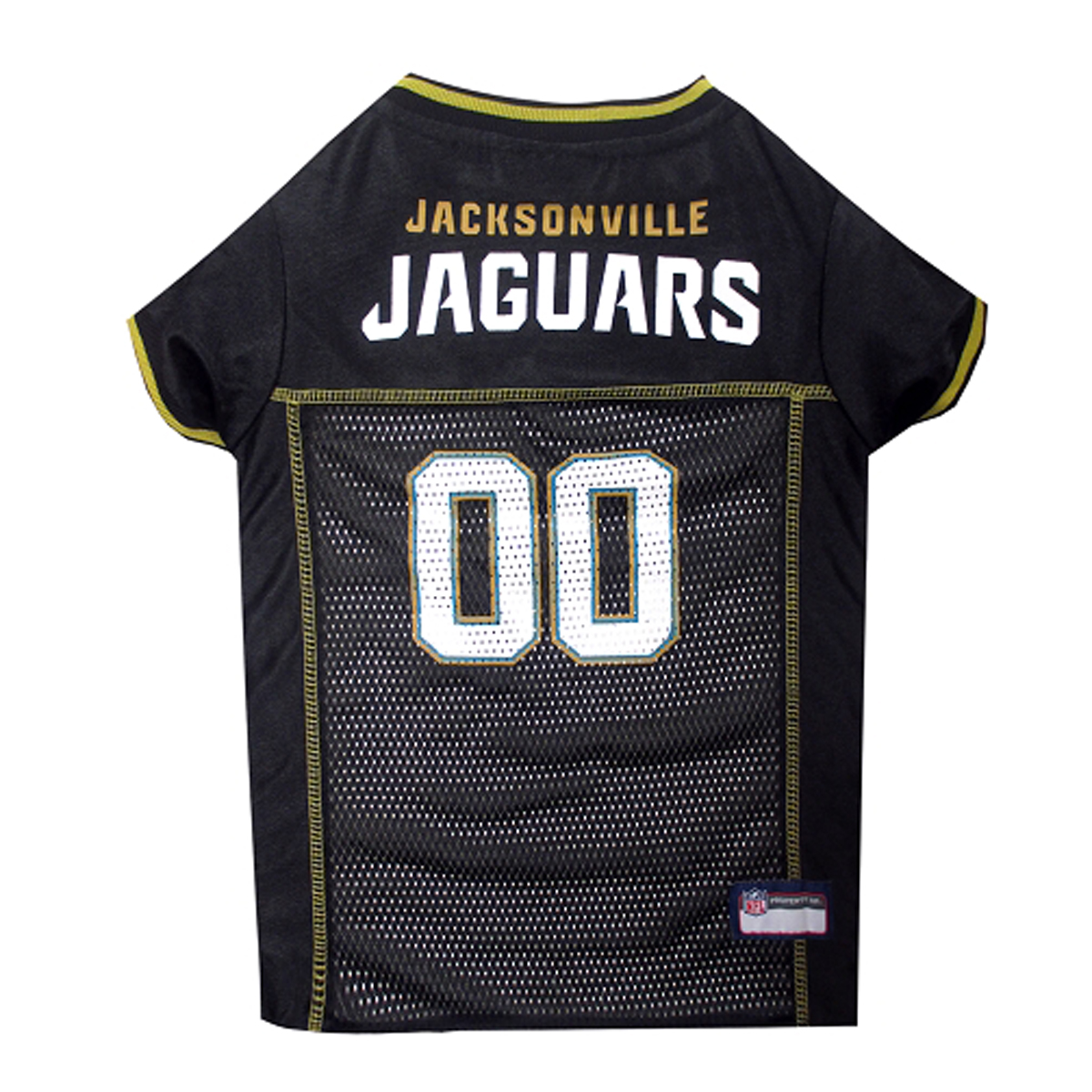 Jacksonville Jaguars Officially Licensed Dog Jersey - Black with Gold Trim